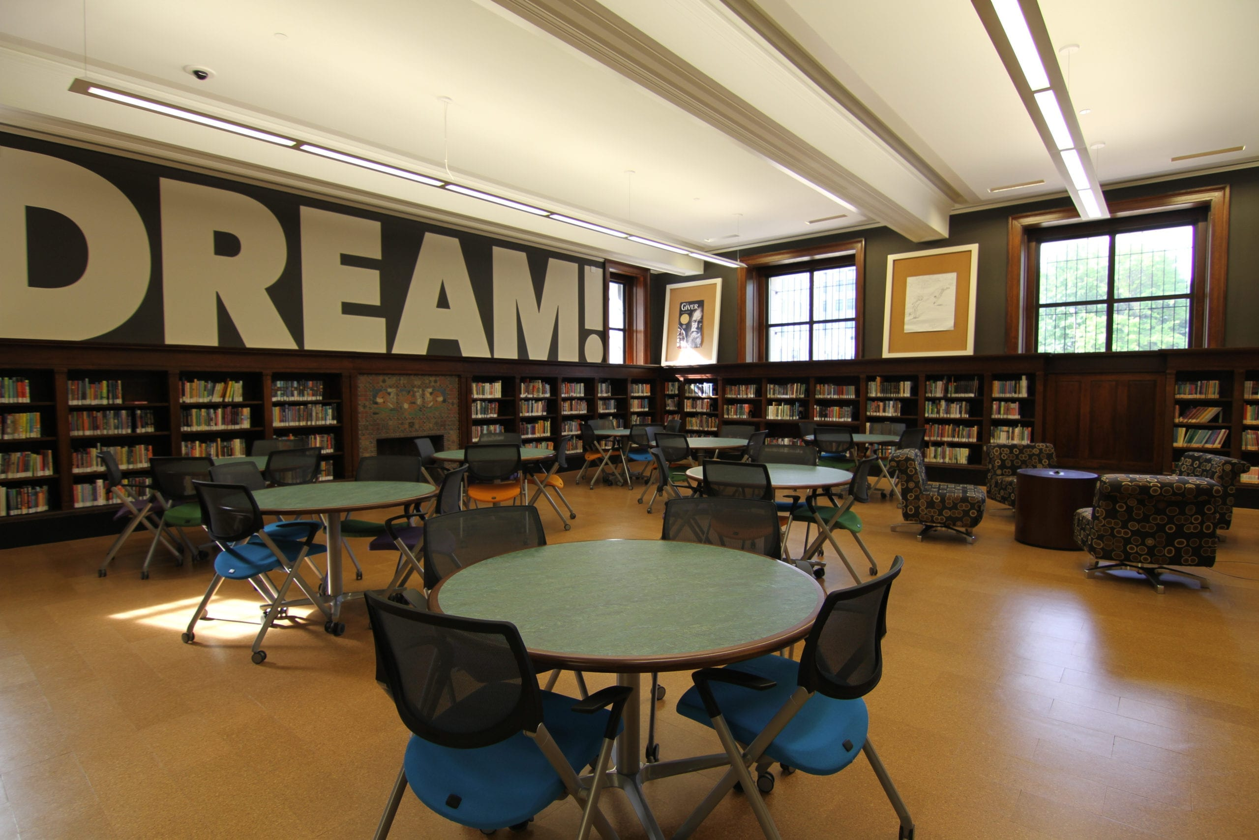 Cantilever Shelving with Wooden Cubbies at St. Louis Library mr scaled