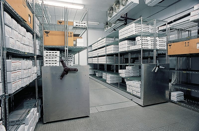 7 wire racking Stainless Shelves mobile