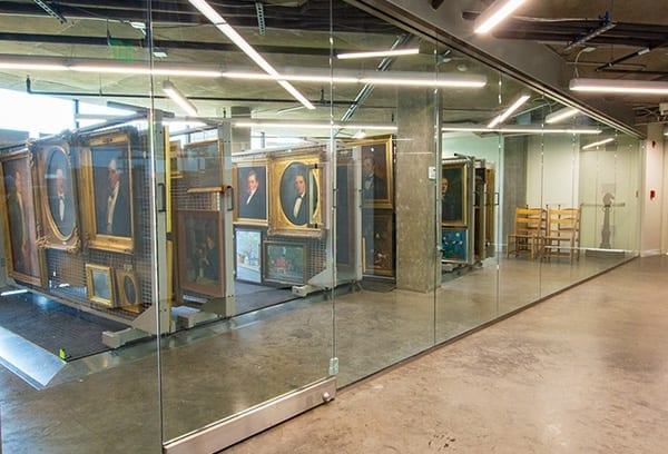 visible art collection storage