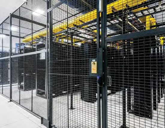 Drivers Cage with Shelving Layout