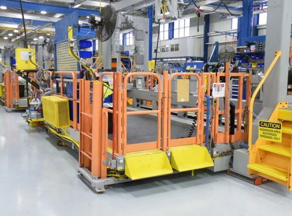Large Worker Platform with Safety Rail