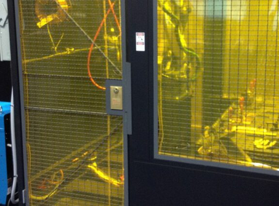Weld Curtains on Machine Guard