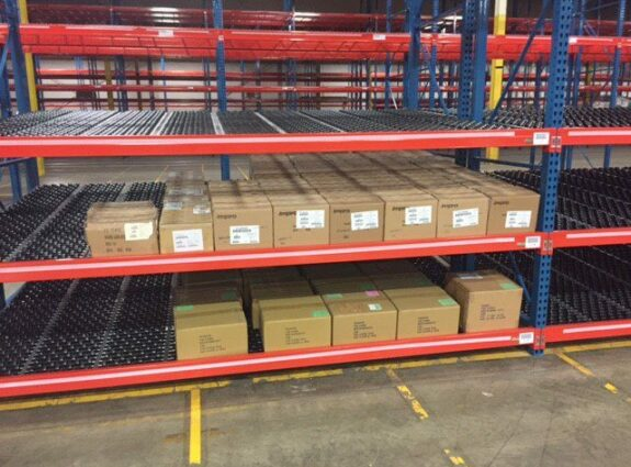 Carton Flow Rack with Boxes
